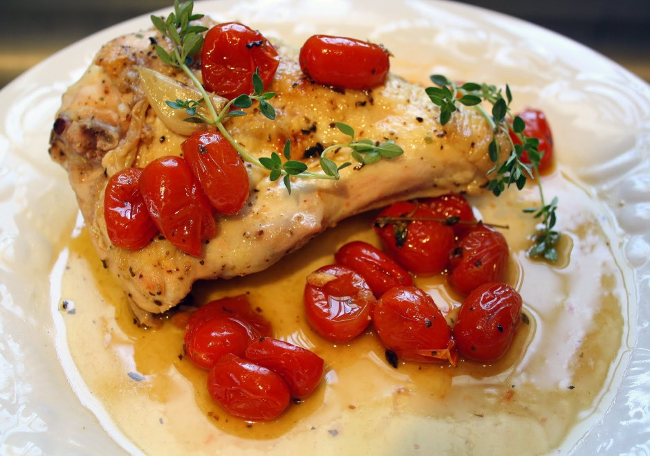 Lemon Chicken with Garlic and Tomatoes